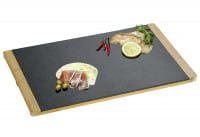 Servierplatte Schiefer/Bambus 45 x 30 x 1,5 cm
