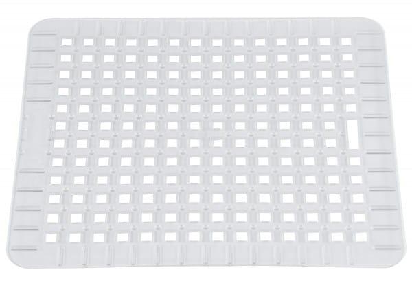 Spülbeckenmatte 31,5x27cm transparent eckig