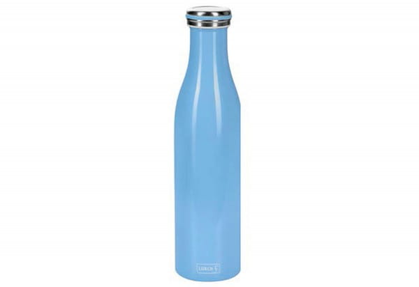 Thermo-Flasche Edelstahl 0,75l light blue