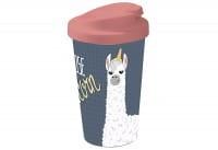 Coffee to go Becher Lama I Choose blau