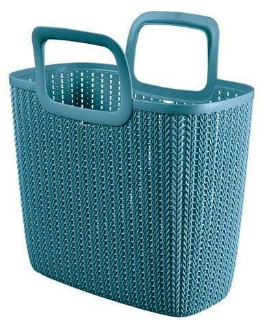 Einkaufstasche KNIT Lily 25l, 42x23,4x29cm misty blue