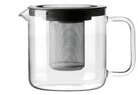 Teekanne mit Metallsieb und Kunststoffdeckel 1,3 l