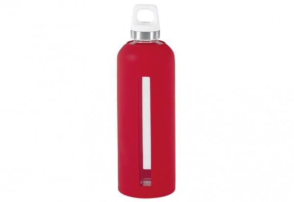 Glasflasche GLAS LIFESTYLE Star scarlet 0,85 l
