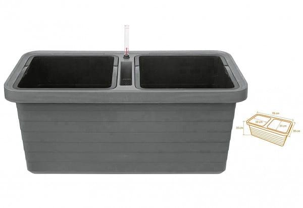 Bewässerungskasten Kunststoff Urbalive DUO 78 mit Rollen