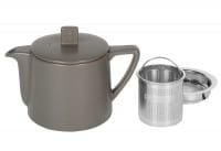 Teekanne Steingut Lund 0,5 l graubraun