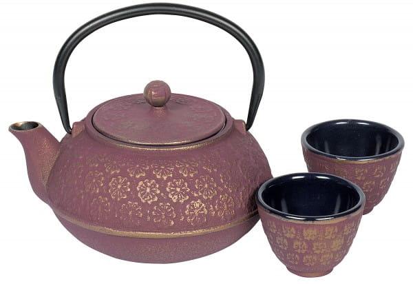Tee-Set Gusseisen Shanghai 0,6 l pinkgold