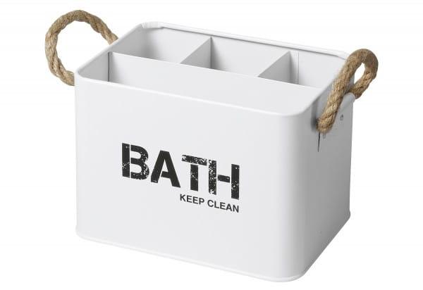 Badbox Gara mit 4 Fächern Stahl weiß 19x12,5x13cm