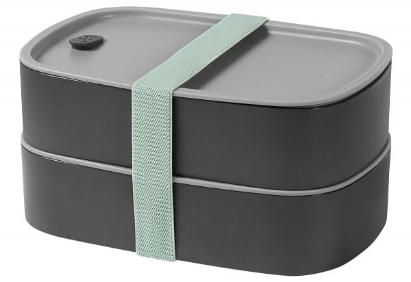 Doppelte Bento-Box Leo 0,8l grau