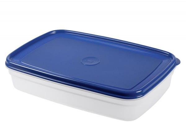 Frischhaltedose Superline 2,5l eckig transparent/blau Kunststoff