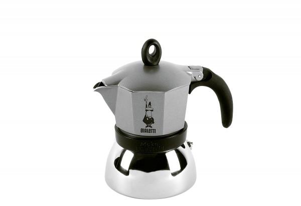 Espressokocher Moka Induktion anthrazit 3 Tassen