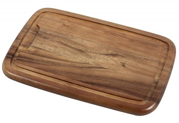 Tranchierbrett Holz 36x23x2cm akazie