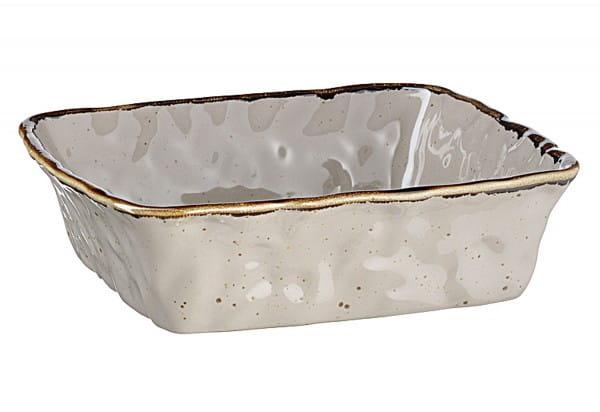 Auflaufform Keramik Bel Tempo quadratisch 23,5x23,5x6,5cm grau