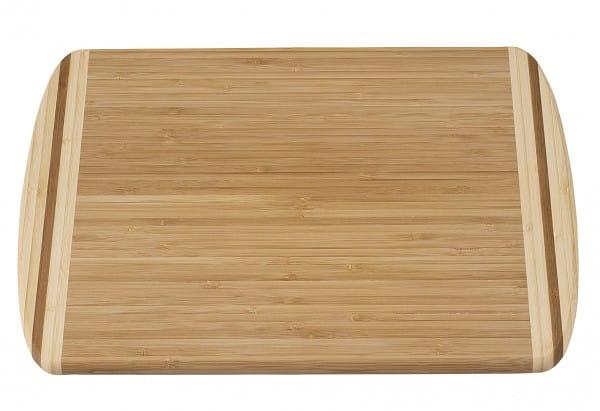 Schneidbrett Bambus zweifarbig 40x30x1,6cm