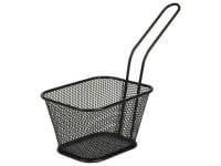 Servier-Frittierkorb eckig 10,5x8,5cm schwarz