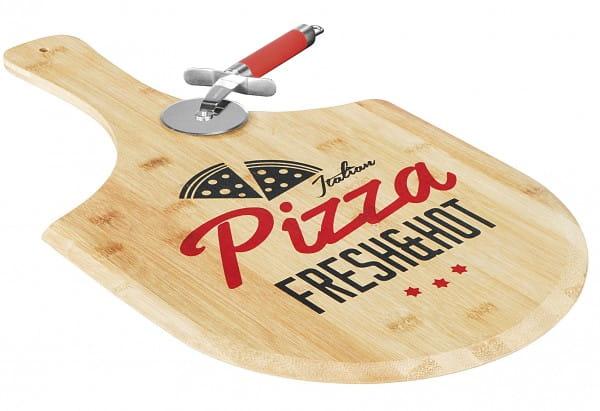 Pizzabrett Bambus bedruckt