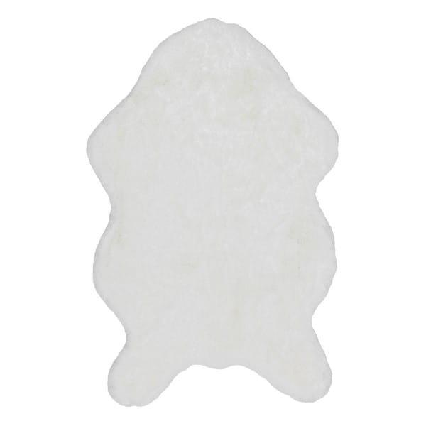 Teppich Kunstfell Tender Nutzschicht 100% Polyester 60x90cm shape weiß