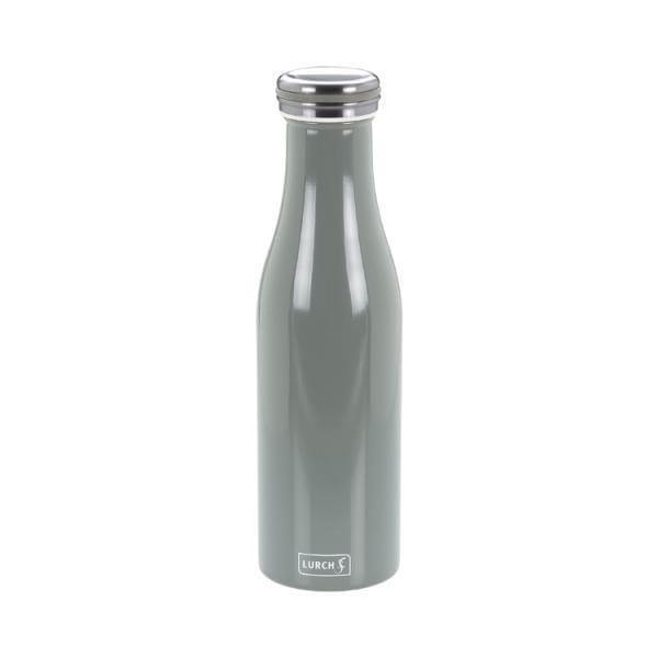 Thermo-Isolierflasche Edelstahl 500ml perlgrau