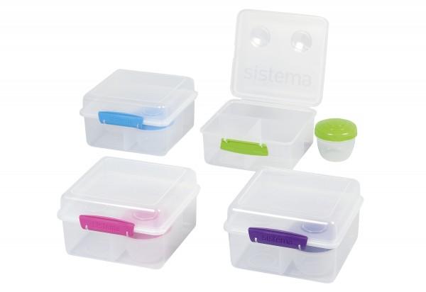 Lunchbox/Brotdose 4-fach unterteilt Joghurtbehälter