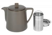 Teekanne Steingut Lund 1,0 l graubraun