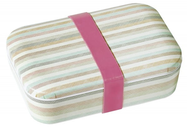 Lunchbox/Brotdose Streifen Bamboo Fibre 18,5x6x12,5cm