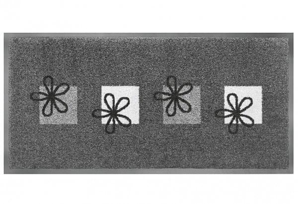 Schmutzfangmatte Emotion XS Flower 40 x 80 cm grau