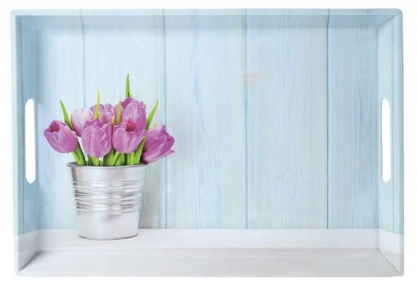 Serviertablett Tulpen 50 x 35 x 4,5 cm