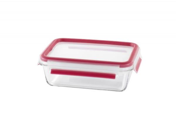Frischhaltedose Clip & Close 0,7l transparent/rot Glas