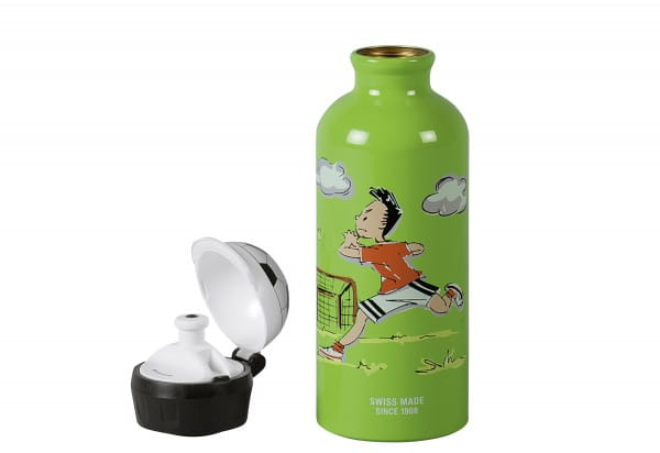 Trinkflasche Fußball 0,4l grün
