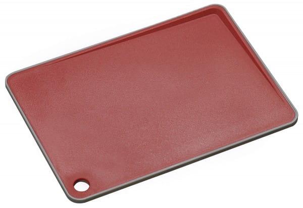 Schneidbrett mit abfallender Schneidfläche 35,9x25,8x0,9cm rot