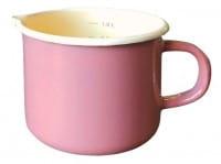 Milchtopf Ø12cm mit Ausguss und Innenskalierung rosa