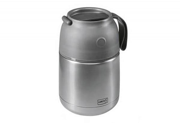 Thermobecher 480ml Edelstahl grau-metallic