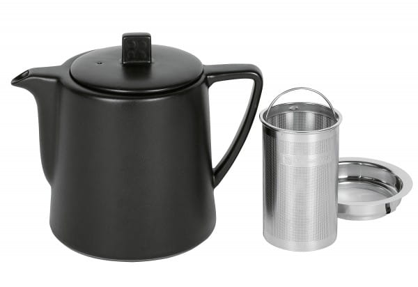 Teekanne Steingut Lund 1,0 l schwarz