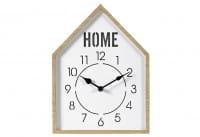 Wanduhr Home mit Licht Holz 32x24cm