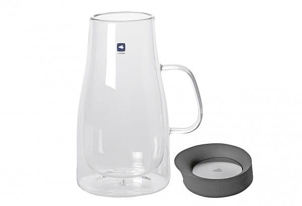Kaffeekanne Duo doppelwandig Glas/Kunststoff 1l