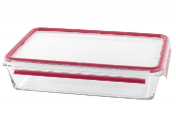Frischhaltedose Clip & Close 3,0l transparent/rot Glas