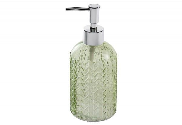 Seifenspender Vetro rund Glas grün 400ml 8,5x19x7,5cm