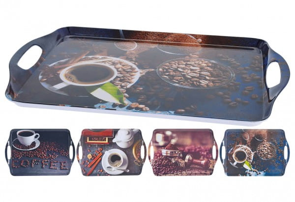 Tablett Coffee sortiert 45x30cm
