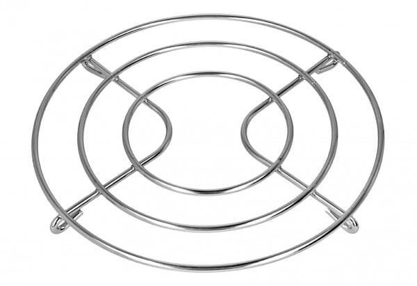 Untersetzer Metall verchromt Ø20cm H 1,6 cm silberfarben